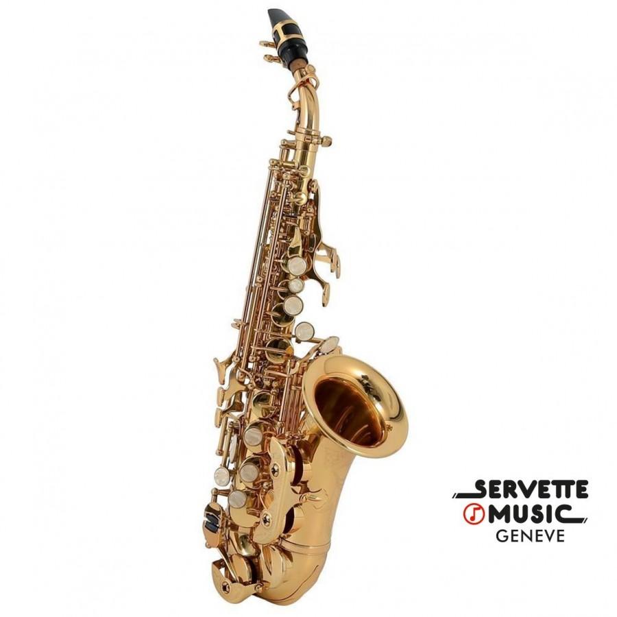 Saxophone Soprano Roy Benson, modèle SG-302 courbé